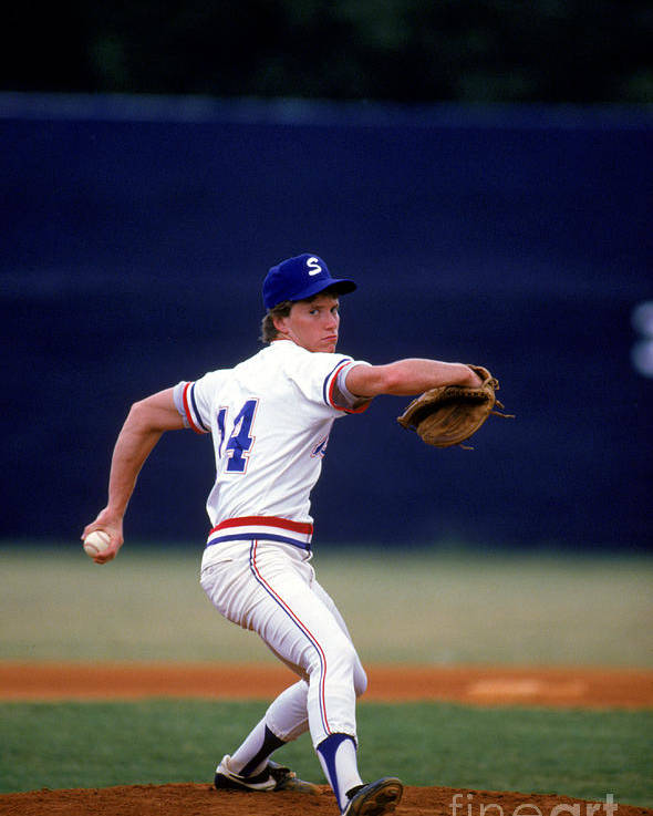 1980-1989 Poster featuring the photograph Tom Glavine by Rich Pilling