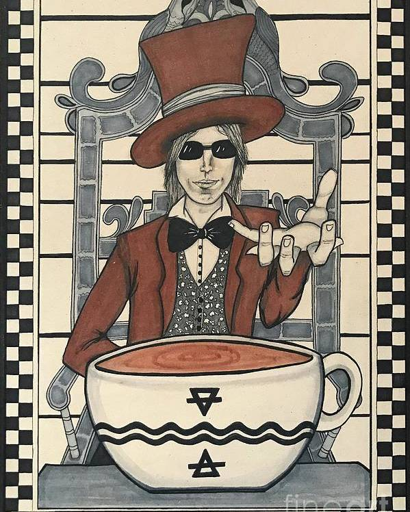 Tom Petty the Temperance card by Kathy Zyduck