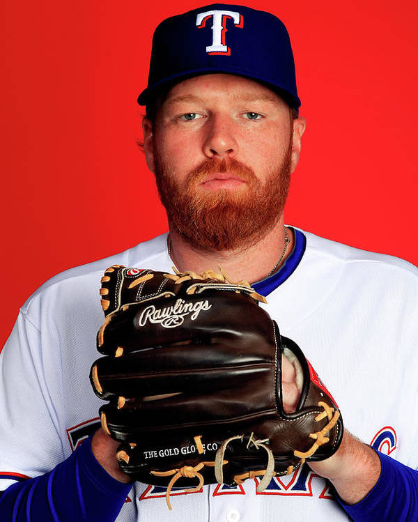 Media Day Poster featuring the photograph Tommy Hanson by Jamie Squire