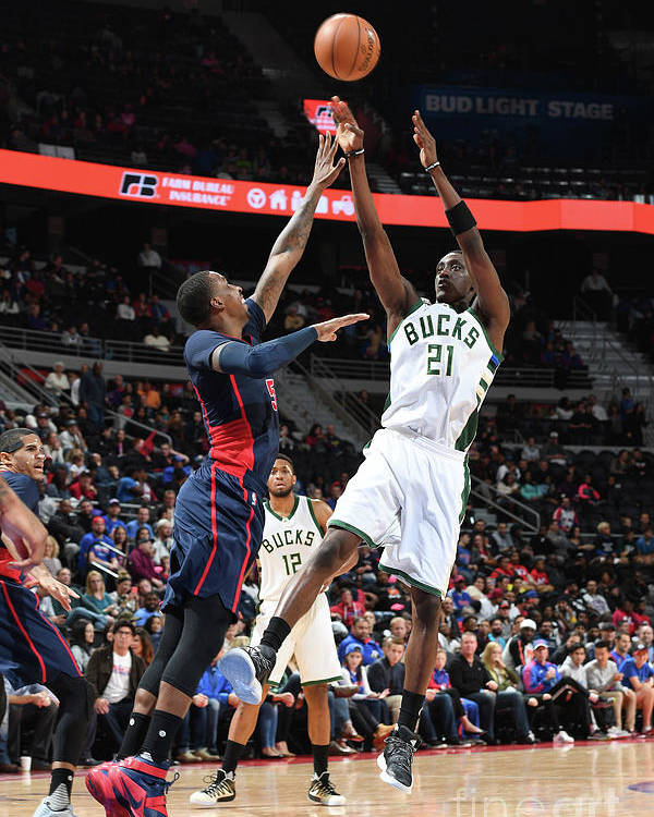 Nba Pro Basketball Poster featuring the photograph Tony Snell by Chris Schwegler