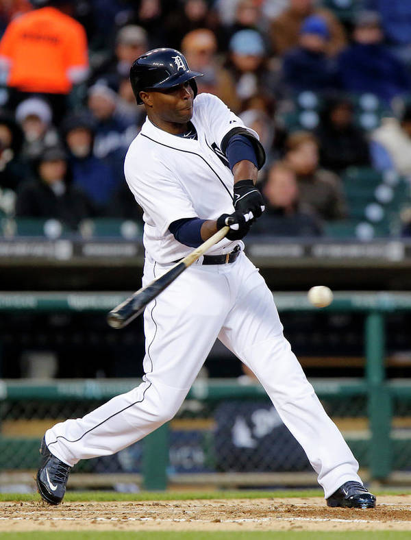 American League Baseball Poster featuring the photograph Torii Hunter by Duane Burleson