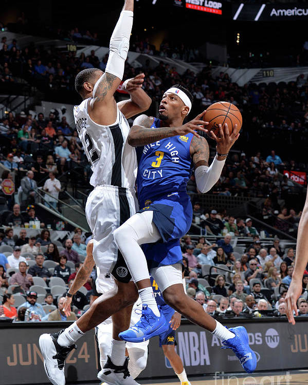 Playoffs Poster featuring the photograph Torrey Craig by Mark Sobhani