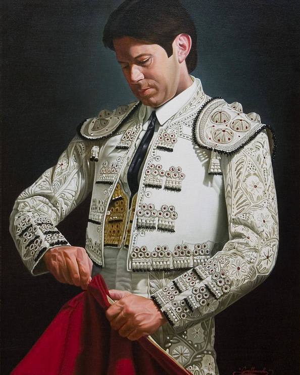 Figurative Poster featuring the painting Traje de Luces by Gary Hernandez