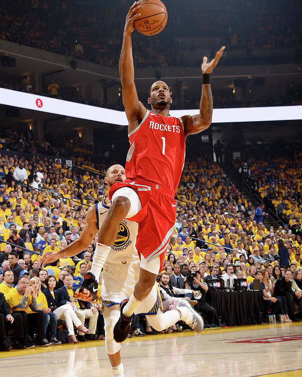 Playoffs Poster featuring the photograph Trevor Ariza by Andrew D. Bernstein