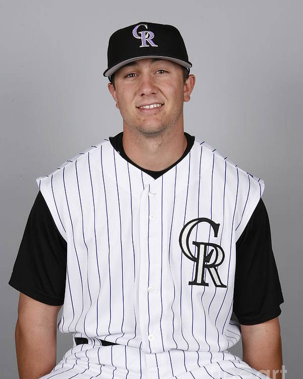 Media Day Poster featuring the photograph Troy Tulowitzki by Ron Vesely