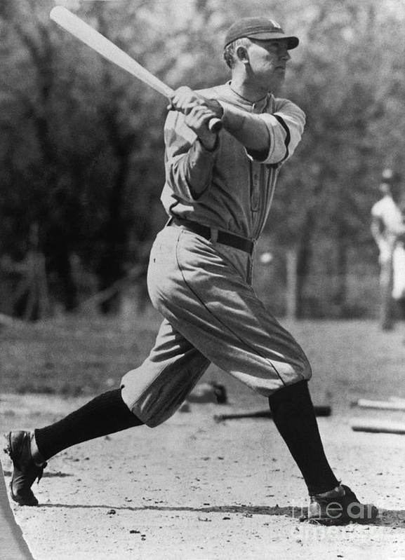American League Baseball Poster featuring the photograph Ty Cobb by National Baseball Hall Of Fame Library