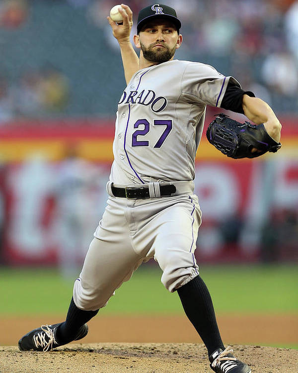 Baseball Pitcher Poster featuring the photograph Tyler Chatwood by Christian Petersen
