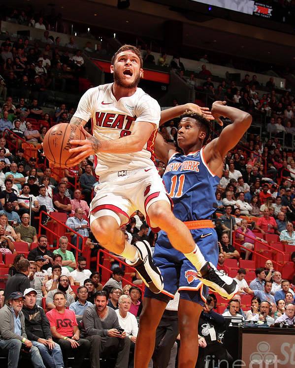 Nba Pro Basketball Poster featuring the photograph Tyler Johnson by Issac Baldizon