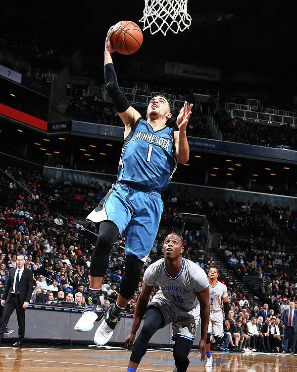 Nba Pro Basketball Poster featuring the photograph Tyus Jones by Nathaniel S. Butler