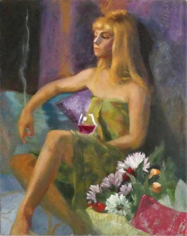 Portrait Poster featuring the painting Unloved Flowers by Irena Jablonski