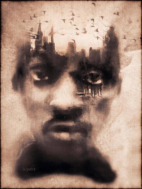 Digital Image Poster featuring the digital art Urban Mindset by Regina Wyatt