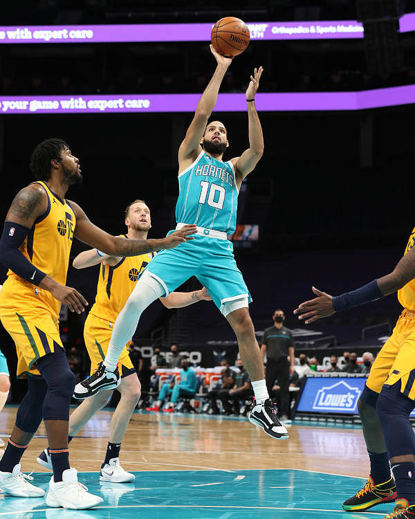 Nba Pro Basketball Poster featuring the photograph Utah Jazz v Charlotte Hornets by Brock Williams-Smith