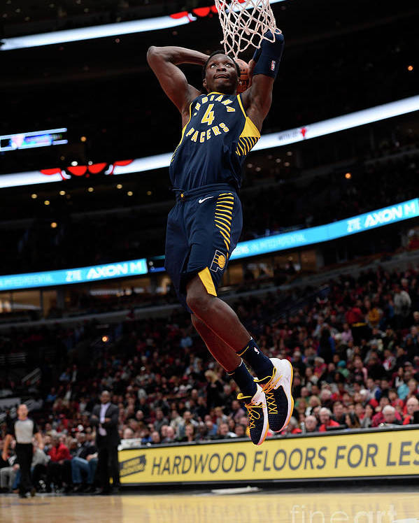 Nba Pro Basketball Poster featuring the photograph Victor Oladipo by David Dow