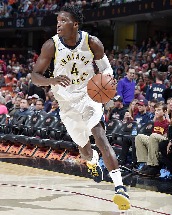 Sport Poster featuring the photograph Victor Oladipo by David Liam Kyle