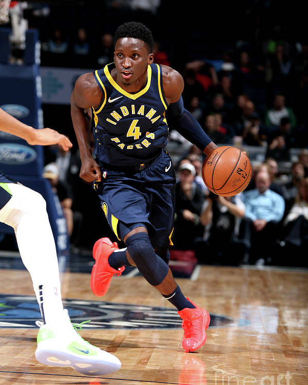 Nba Pro Basketball Poster featuring the photograph Victor Oladipo by David Sherman