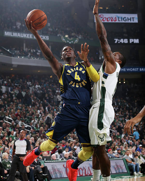 Nba Pro Basketball Poster featuring the photograph Victor Oladipo by Gary Dineen
