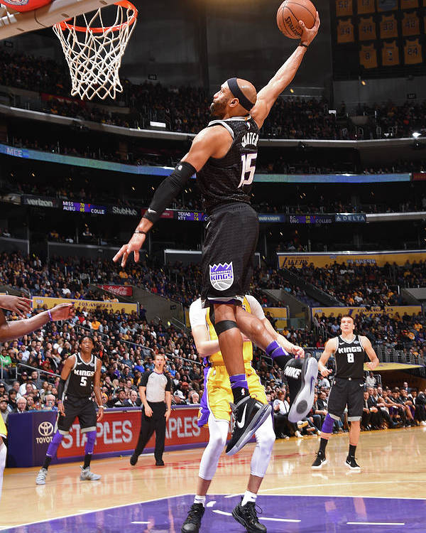 Nba Pro Basketball Poster featuring the photograph Vince Carter by Andrew D. Bernstein