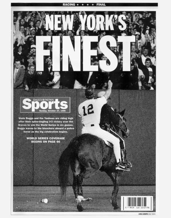 Horse Poster featuring the photograph Wade Boggs by New York Daily News Archive