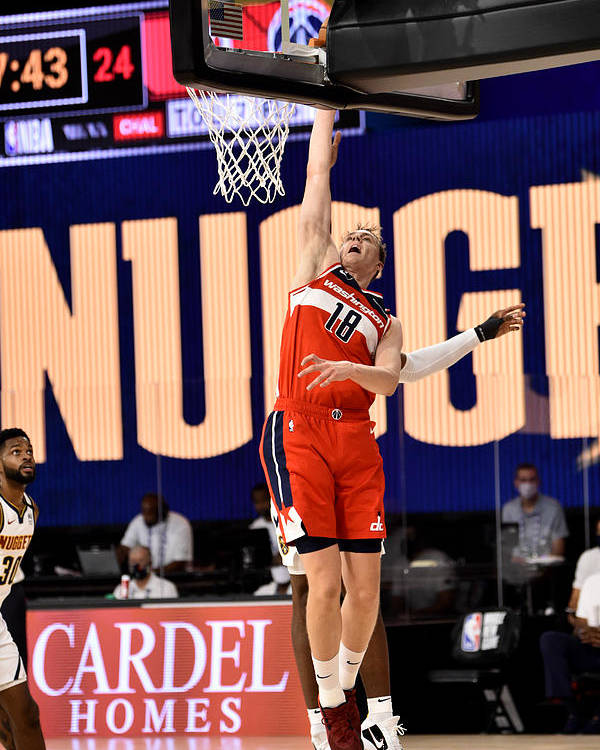 Nba Pro Basketball Poster featuring the photograph Washington Wizards v Denver Nuggets by David Dow