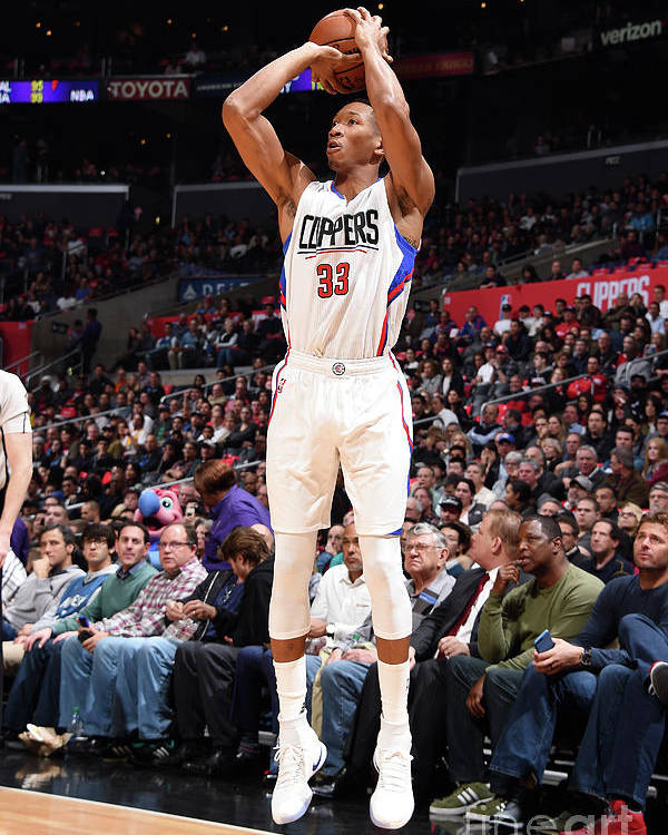 Nba Pro Basketball Poster featuring the photograph Wesley Johnson by Andrew D. Bernstein