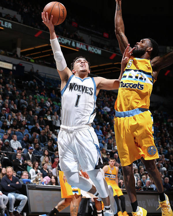 Nba Pro Basketball Poster featuring the photograph Will Barton and Tyus Jones by David Sherman
