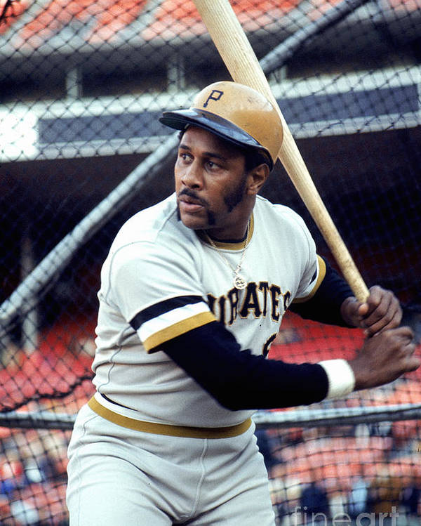 Baseball Cage Poster featuring the photograph Willie Stargell by Michael Zagaris