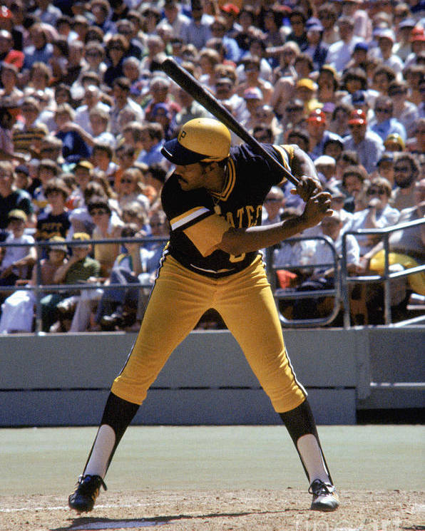 Sports Bat Poster featuring the photograph Willie Stargell by Mlb Photos