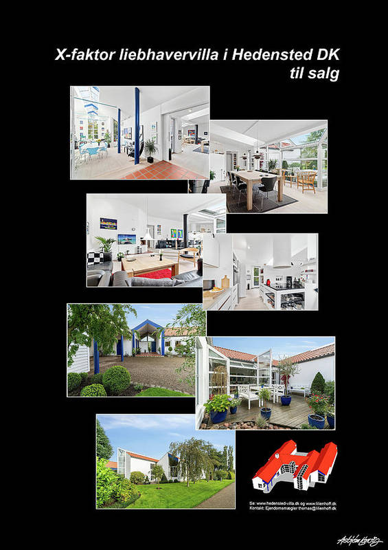 Poster featuring the mixed media X-Factor House in Hedensted, Denmark for sale. by Asbjorn Lonvig