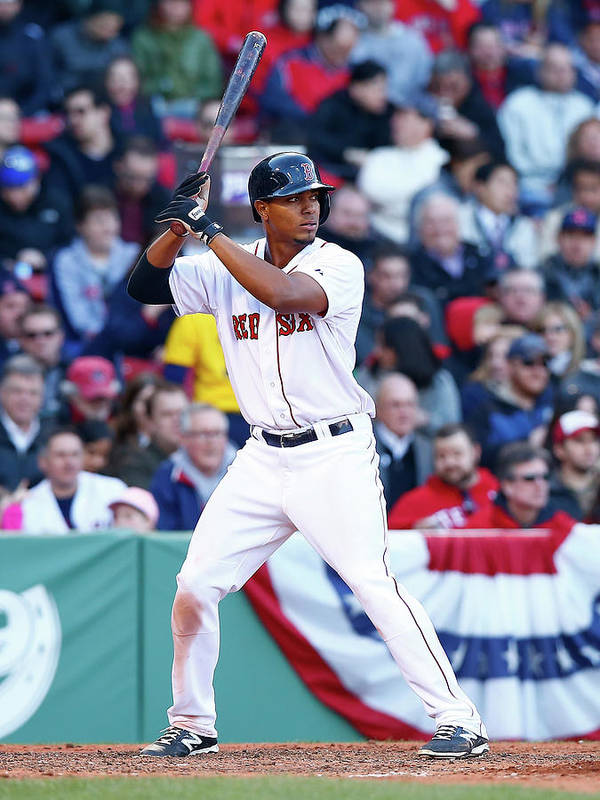 American League Baseball Poster featuring the photograph Xander Bogaerts by Jared Wickerham