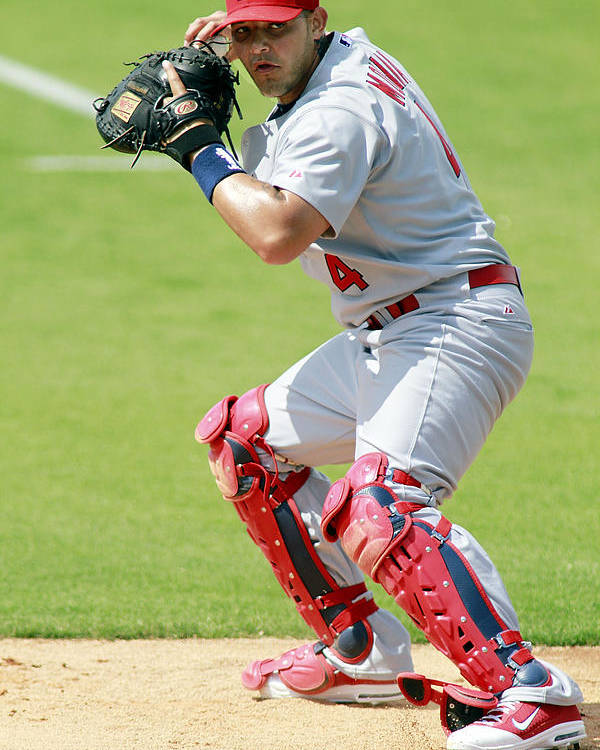 St. Louis Cardinals Poster featuring the photograph Yadier Molina by Marc Serota