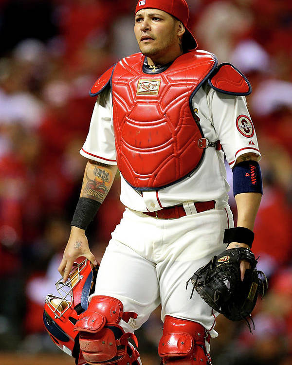 American League Baseball Poster featuring the photograph Yadier Molina by Ronald Martinez