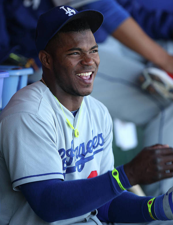 San Francisco Poster featuring the photograph Yasiel Puig by Brad Mangin