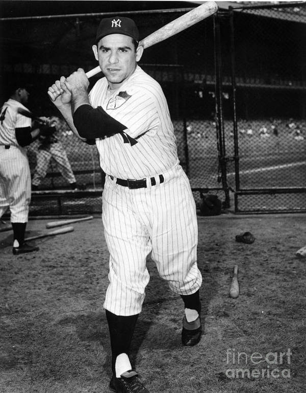 People Poster featuring the photograph Yogi Berra by National Baseball Hall Of Fame Library
