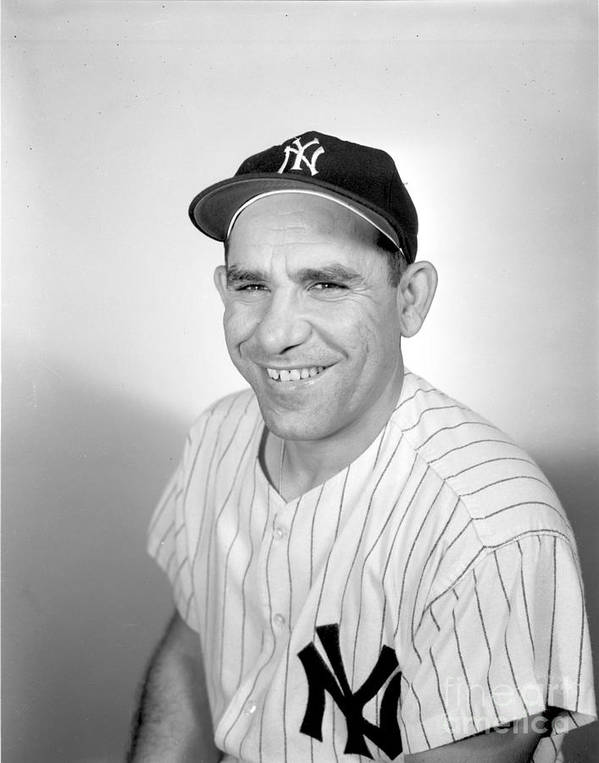 People Poster featuring the photograph Yogi Berra by Olen Collection