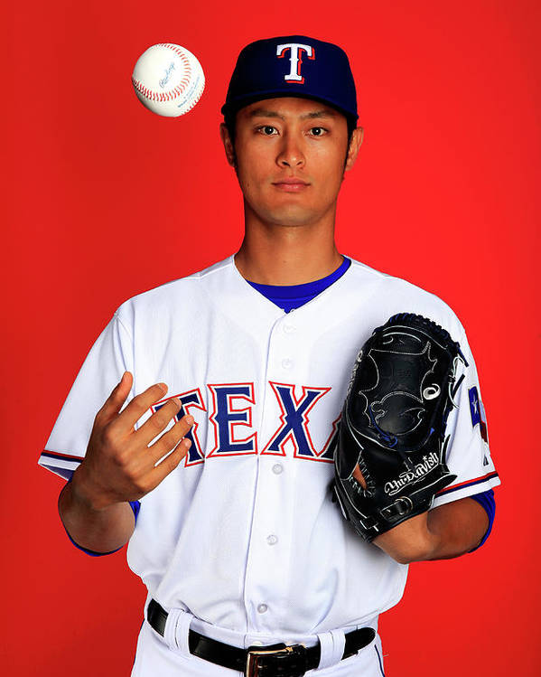 Media Day Poster featuring the photograph Yu Darvish by Jamie Squire