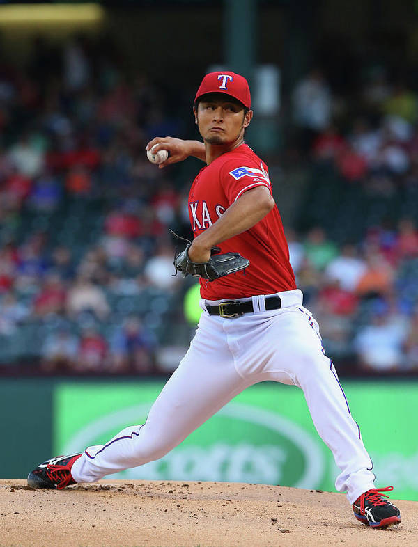 American League Baseball Poster featuring the photograph Yu Darvish by Ronald Martinez