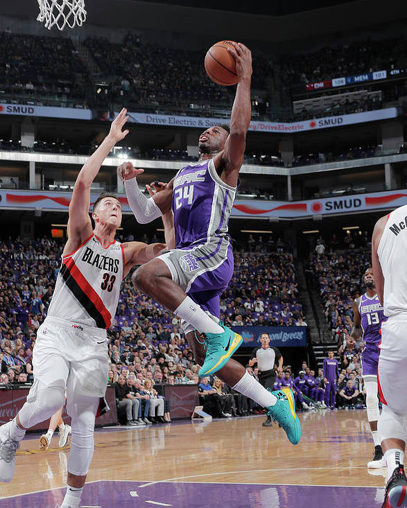 Nba Pro Basketball Poster featuring the photograph Zach Collins and Buddy Hield by Rocky Widner