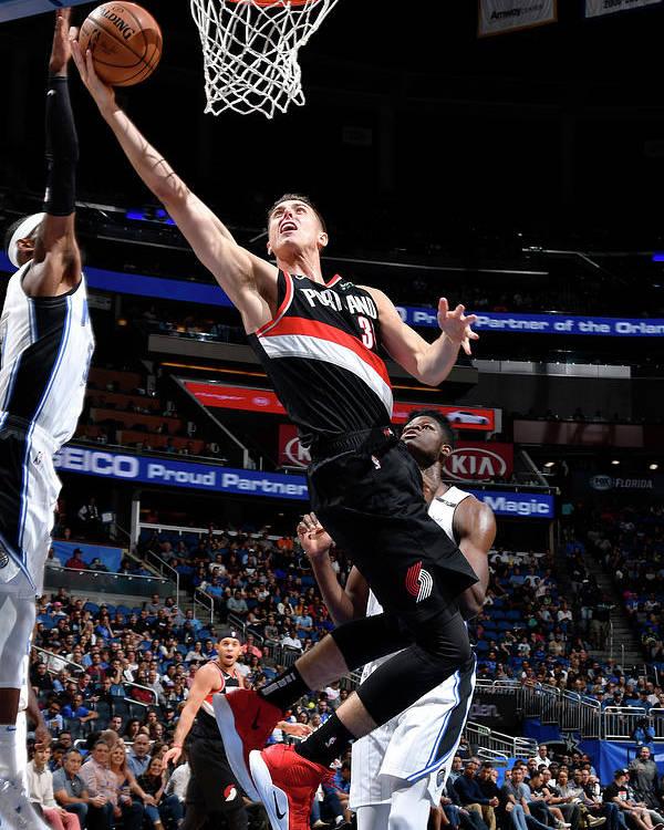 Nba Pro Basketball Poster featuring the photograph Zach Collins by Fernando Medina