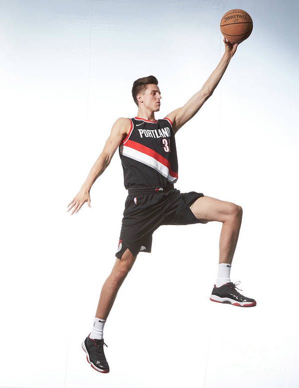Nba Pro Basketball Poster featuring the photograph Zach Collins by Nathaniel S. Butler