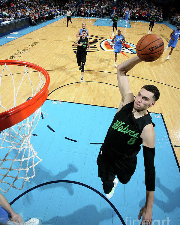 Nba Pro Basketball Poster featuring the photograph Zach Lavine by Layne Murdoch