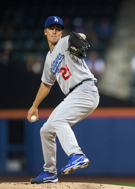 American League Baseball Poster featuring the photograph Zack Greinke by Ron Antonelli