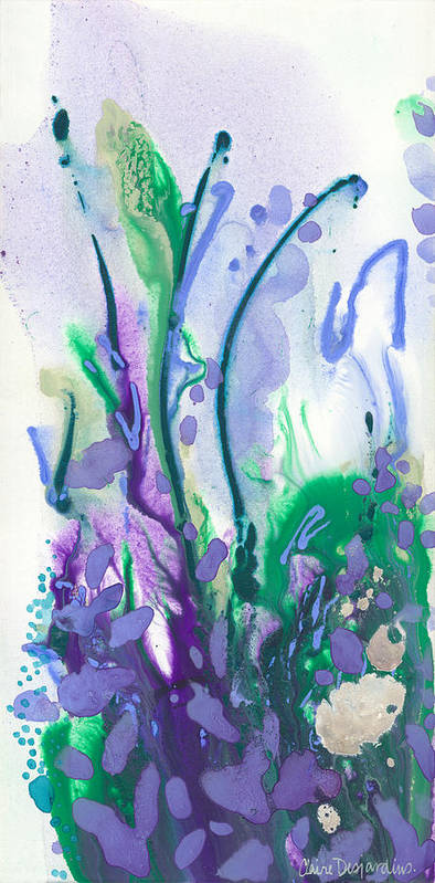Abstract Poster featuring the painting Remember Summer by Claire Desjardins