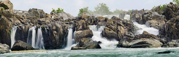Scenics Poster featuring the photograph Great Falls Panoramic by Ogphoto