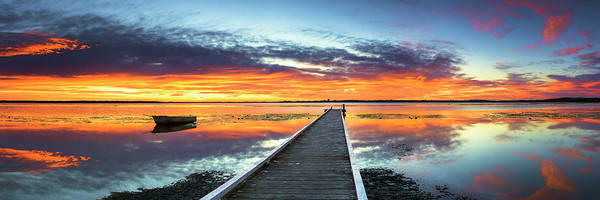 Tranquility Poster featuring the photograph Tuggerah Lake Jetty by Bruce Hood