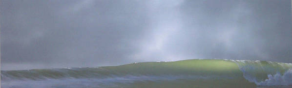 Wave Poster featuring the painting Before the Rain by Philip Fleischer