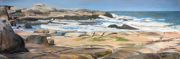 Paysage Poster featuring the painting Bretagne 2 by Muriel Dolemieux