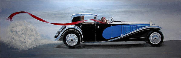 Cars Poster featuring the painting Is It Dora by JoAnne Castelli-Castor