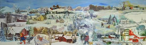 Landscape Poster featuring the painting Winter Goose - SOLD by Judith Espinoza