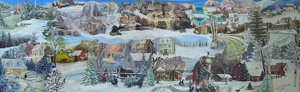 Snow Poster featuring the mixed media Winter Repose - SOLD by Judith Espinoza