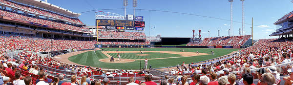 Great American Ball Park Poster featuring the photograph Houston V Reds by Jerry Driendl